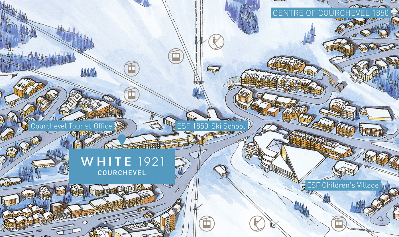 Contact and map White 1921 Courchevel